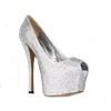 Peep Toe Pumps/Heels Average Stiletto Heel Silk Like Satin Rhinestone Girls'
