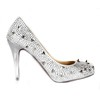 Average Pumps/Heels Rhinestone Silk Like Satin Outdoor Pumps/Heels Women's