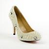 Patent Leather Wedding Shoes Kitten Heel Honeymoon Imitation Pearl Average Women's