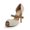 Average Sandals Open Toe Swede Leather Imitation Pearl Stiletto Heel Party & Evening