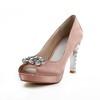Average Wedding Shoes Wedding Satin Rhinestone Women's Kitten Heel