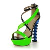 Pumps/Heels Pumps/Heels Average Office & Career Abnormal/Fantasy Heels Split Joint Patent Leather