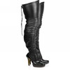 Outdoor Boots Over The Knee Boots Women's Stretch Leather Cone Heel Average