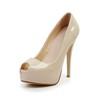 Dress Pumps/Heels Stiletto Heel Average Patent Leather Girls' Round Toe