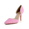 Patent Leather Pumps/Heels Imitation Pearl Abnormal/Fantasy Heels Medium Dress Pointed Toe