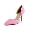 Patent Leather Pumps/Heels Imitation Pearl Abnormal/Fantasy Heels Medium Dress Pointed Toe