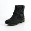 Bootie Flats Split Joint Swede Leather Graduation Booties/Ankle Boots Average
