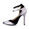Stiletto Heel Wedding Shoes Wedding Closed Toe Women's Stretch Velvet Buckle