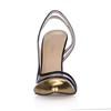 Opalescent Lacquers Sandals Stiletto Heel Split Joint Wedding Pumps/Heels Narrow