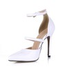 Wedding Dance Shoes Buckle Girls' Cone Heel Opalescent Lacquers Narrow