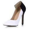 Narrow Wedding Shoes Stretch Velvet Dress Cone Heel Girls' Split Joint