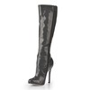 Pumps/Heels Wedding Shoes Opalescent Lacquers Women's Zipper Knee High Boots Stiletto Heel