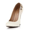 Stiletto Heel Wedding Shoes Closed Toe Average Dress Women's Silk Like Satin