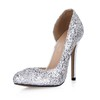 Sequined Cloth/Sparkling Glitter Wedding Shoes Sparkling Glitter Girls' Average Stiletto Heel Wedding