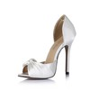 Ruched Pumps/Heels Average Silk Like Satin Wedding Cone Heel Girls'