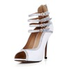 Peep Toe Wedding Shoes Girls' Stiletto Heel Average Dance Buckle