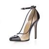 Plastics Sandals Buckle Cone Heel Girls' Wedding Narrow