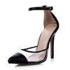 Split Joint Sandals Pointed Toe Stiletto Heel Plastics Women's Narrow