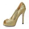 Peep Toe Platforms Women's Sequined Cloth/Sparkling Glitter Casual Narrow Sparkling Glitter