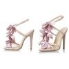 Women's Sandals PU Flower Honeymoon Stiletto Heel Slingbacks
