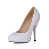 Narrow Pumps/Heels Women's Stiletto Heel PU Wedding Closed Toe