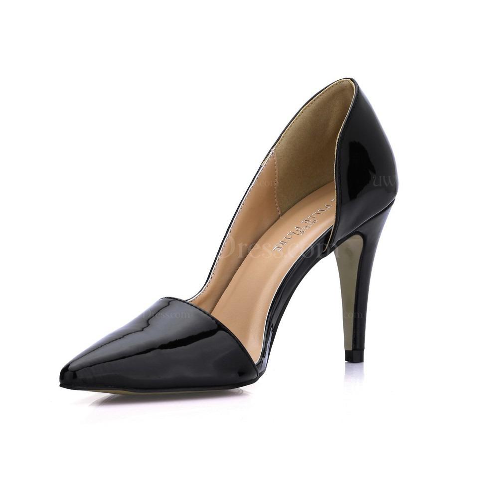 Black Stiletto Heel Wedding Shoes Opalescent Lacquers Womens Narrow Daily DOrsay Amp Two Piece