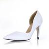 Silk Like Satin Wedding Shoes Narrow Women's Pointed Toe Dress Stiletto Heel