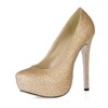 Office & Career Platforms Wide PU Pumps/Heels Sparkling Glitter Stiletto Heel