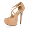 Stiletto Heel Wedding Shoes Wide Party & Evening Girls' PU Round Toe