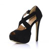 Girls' Wedding Shoes Pumps/Heels Extra Wide Wedding Stiletto Heel Stretch Velvet