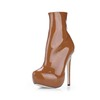 Dress Boots Opalescent Lacquers Wide Zipper Boots Girls'