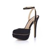 Slingbacks Pumps/Heels Wedding Girls' Buckle Extra Wide Stiletto Heel