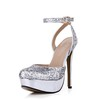 Closed Toe Platforms Stiletto Heel Sparkling Glitter Sequined Cloth/Sparkling Glitter Party & Evening Women's