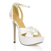 Women's Wedding Shoes Pumps/Heels PU Stiletto Heel Buckle Wide