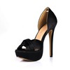 Stiletto Heel Platforms Daily Ruched Extra Wide Silk Like Satin Girls'