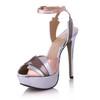 Women's Wedding Shoes Stiletto Heel PU Split Joint Honeymoon Extra Wide
