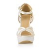 Wedding Sandals Knee High Boots Wide Split Joint Stiletto Heel Girls'