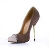 Women's Wedding Shoes Stiletto Heel Chain Stretch Velvet Average Cap-Toe