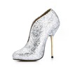Sequined Cloth/Sparkling Glitter Wedding Shoes Wedding Girls' Sparkling Glitter Average Stiletto Heel