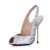 Wedding Pumps/Heels Stiletto Heel Open Toe Sparkling Glitter Girls' Average