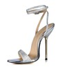 Average Sandals Wedding Pumps/Heels Stiletto Heel Sequined Cloth/Sparkling Glitter Girls'