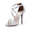Sparkling Glitter Wedding Shoes Women's Stiletto Heel Average Pumps/Heels Sequined Cloth/Sparkling Glitter