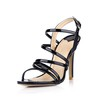 Stiletto Heel Sandals Average Open Toe Opalescent Lacquers Women's Buckle