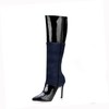 Stiletto Heel Wedding Shoes Girls' Office & Career Knee High Boots Pumps/Heels Narrow