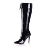 Girls' Boots Opalescent Lacquers Knee High Boots Stiletto Heel Fashion Boots Zipper
