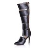 Pumps/Heels Boots Women's Average Zipper Stiletto Heel Knee High Boots