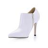 Booties/Ankle Boots Pumps/Heels Stiletto Heel Office & Career Zipper Boots Average