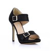 Average Platforms Stiletto Heel Graduation Buckle Girls' Round Toe