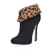 Closed Toe Wedding Shoes Average Graduation Booties/Ankle Boots Stiletto Heel Stretch Velvet