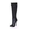 Knee High Boots Wedding Shoes Stiletto Heel Buckle Party & Evening Average Stretch Velvet